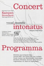 poster Vocaal Ensemble Intonatus