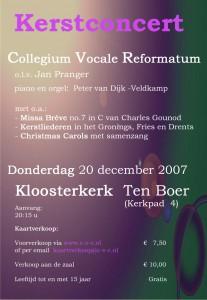 poster Kerstconcert 2007