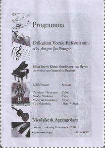 programma Herfstconcert 2009
