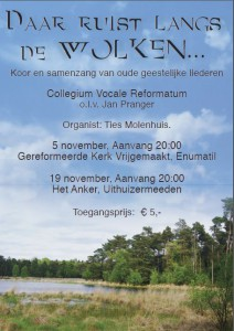 poster Samenzangavond 2011